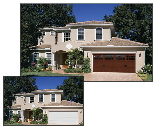 Use our Visualizer toola and 'try on' a new garage door; see how it can dramatically increase the curb appeal of your home.